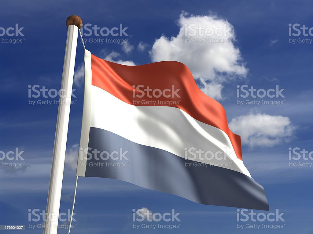 Netherlands flag (with clipping path) stock photo