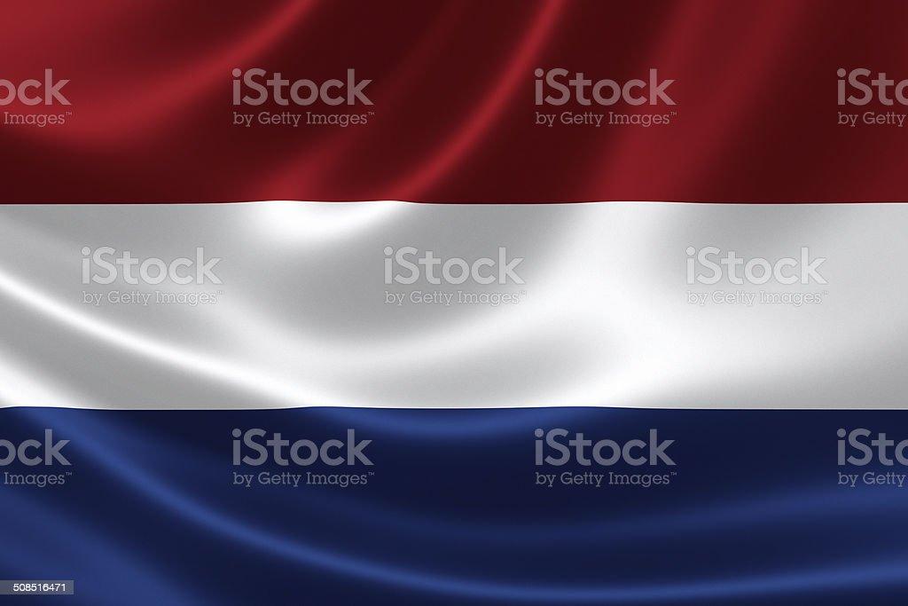 Bandera neerlandés - foto de stock