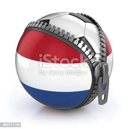 istock Netherlands football nation 3d isolated illustration 885571156