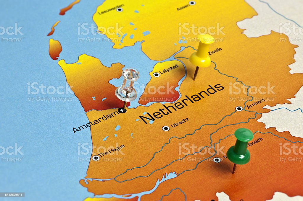 Netherlands Map royalty-free stock photo