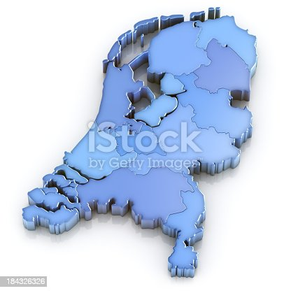 istock Netherlands map with provinces 184326326