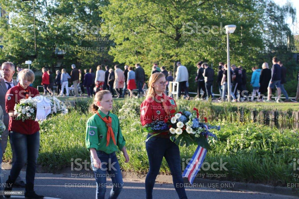 Nederland - Nieuwerkerk aan den IJssel - 4e mei 2018 - Memorial day foto
