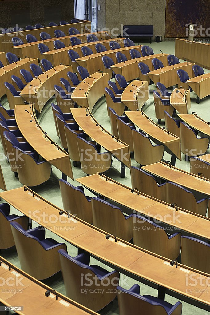 Netherlands parliament hall royalty-free stock photo
