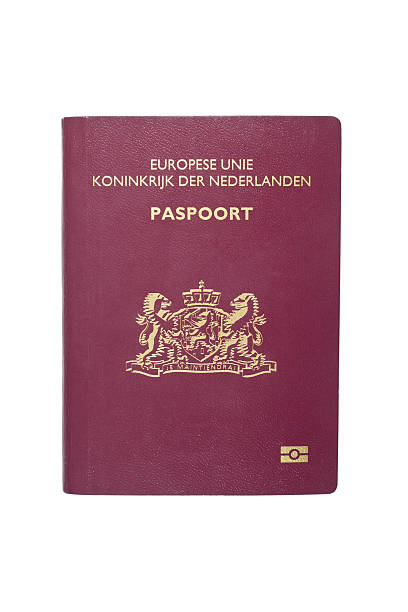 Netherlands Passport With Clipping Path stock photo