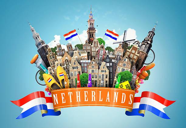 niederlande - foto collage geschenk stock-fotos und bilder