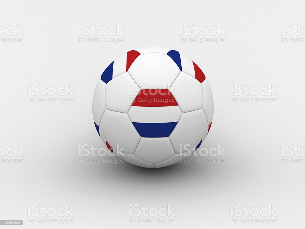 Netherlands soccer ball royalty-free stock photo