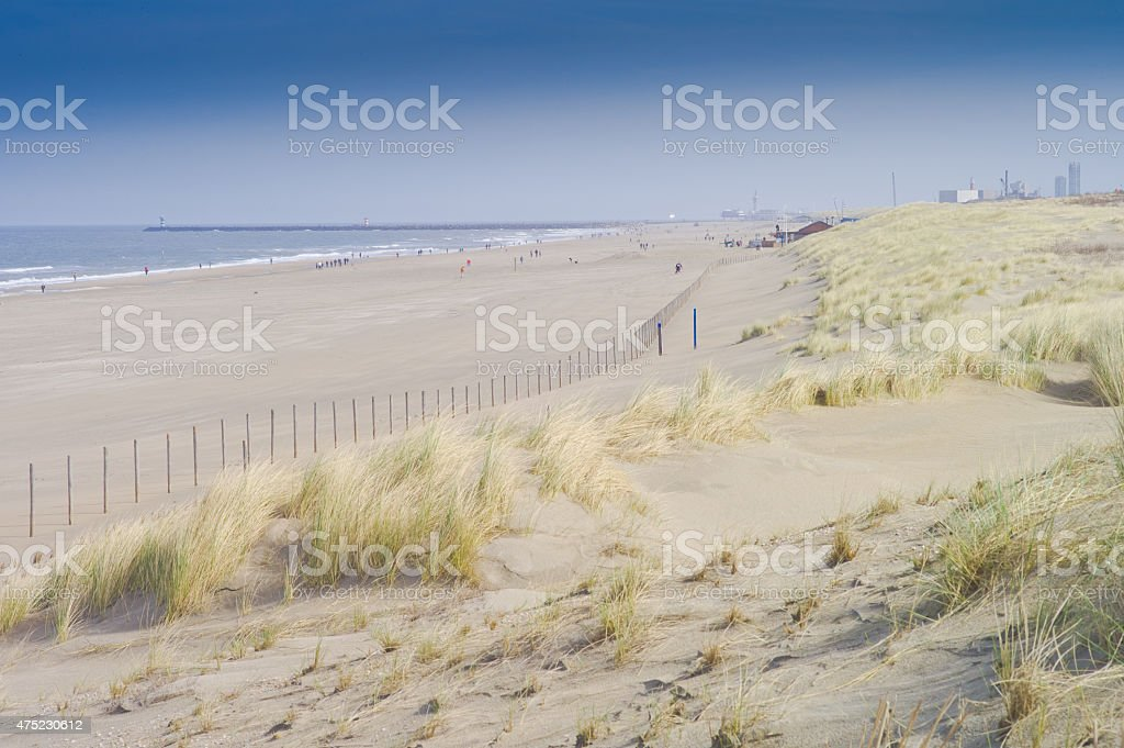 Netherlands - The Hague beach stock photo