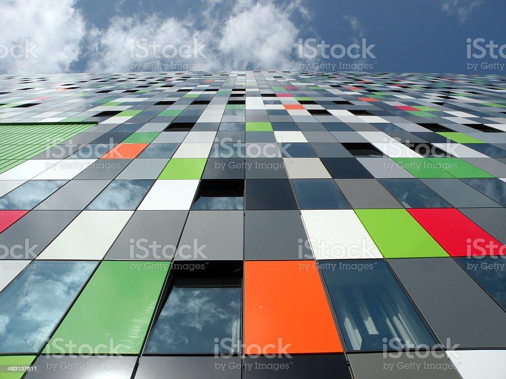 Netherlans color windows stock photo