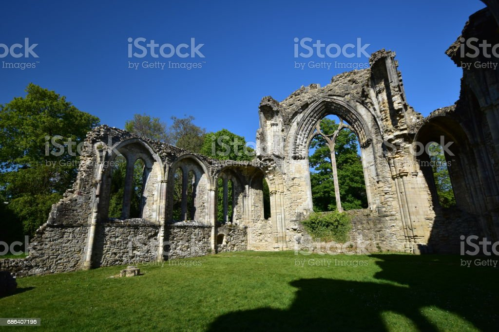 Netley Abbey Ruin Hampshire UK England stock photo