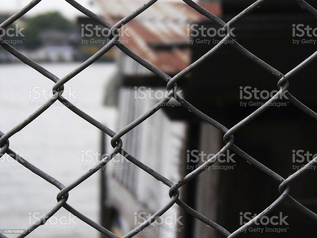 netting iron steel fence royalty-free stock photo