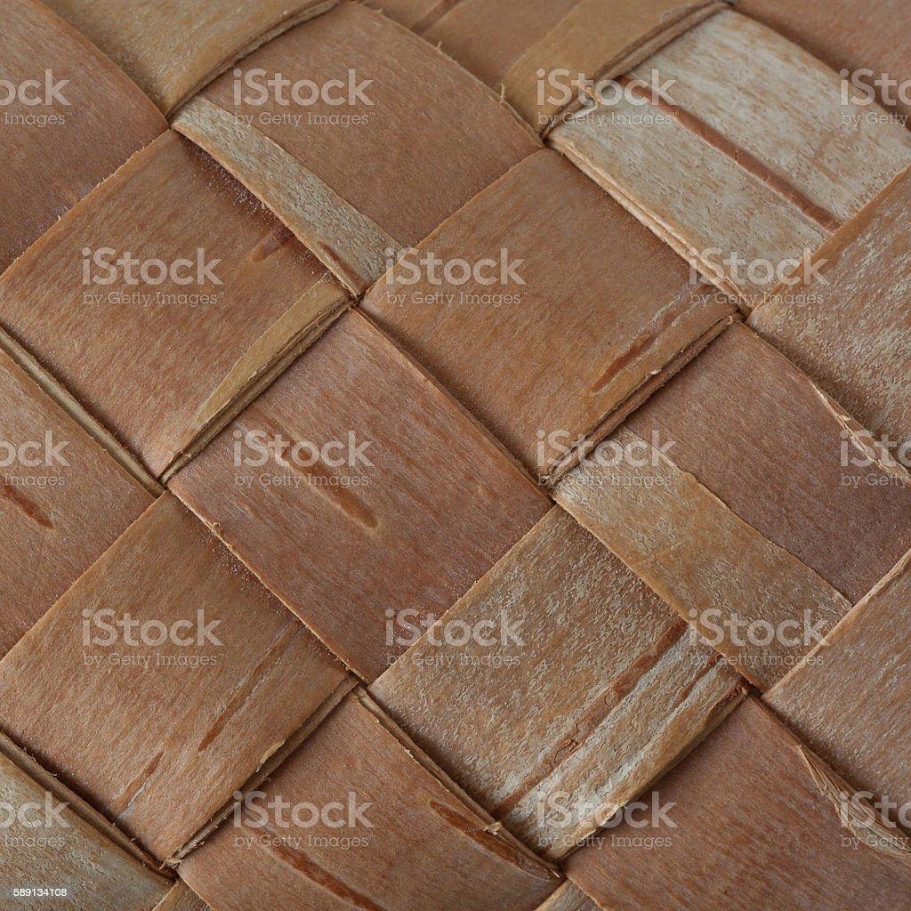 Netting made of birch bark stock photo