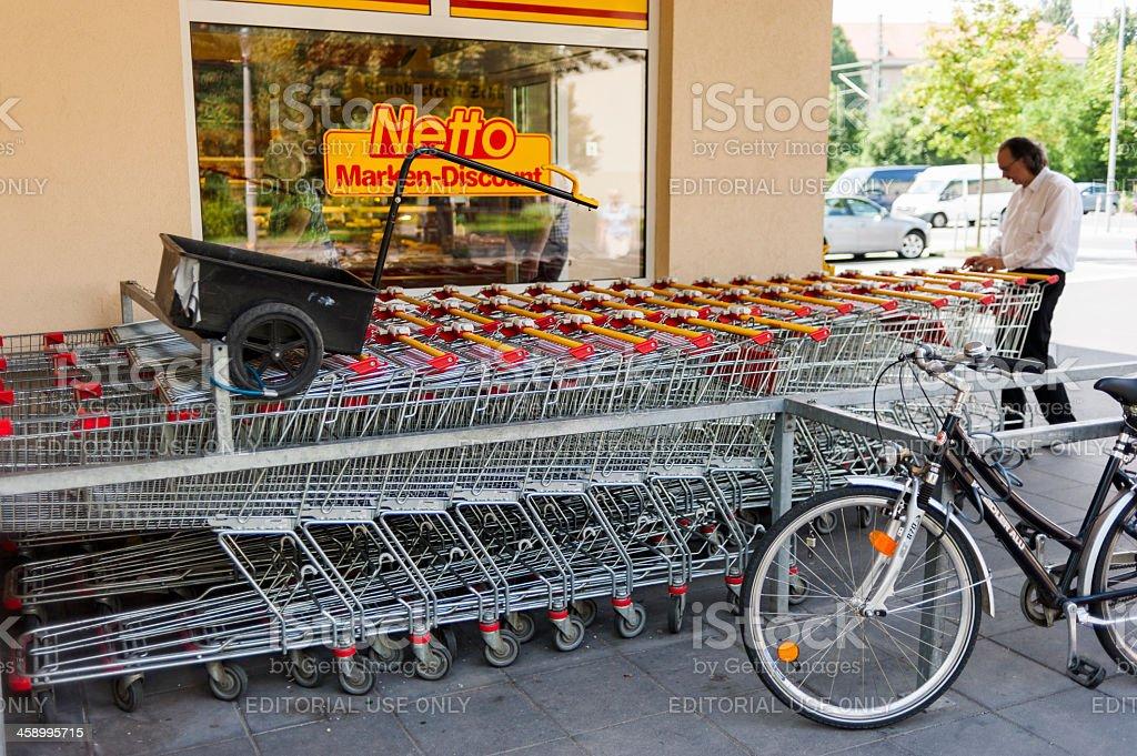 netto supermarket royalty-free stock photo