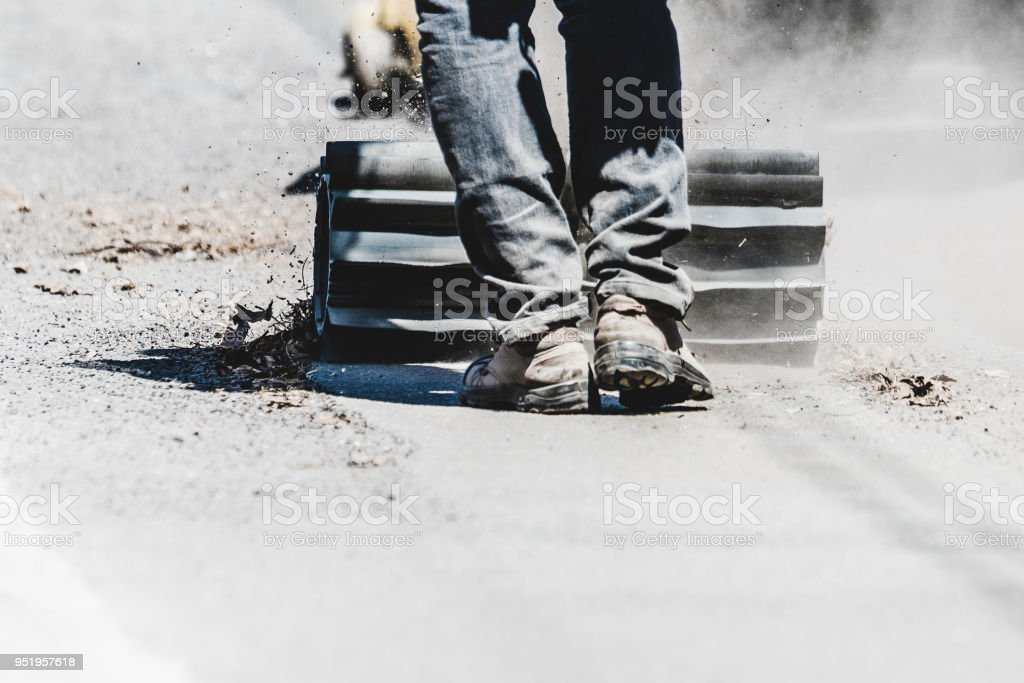 Nettoyage de rue au printemps - Photo