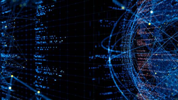 Abstrakter Begriff Netzwerk – Foto