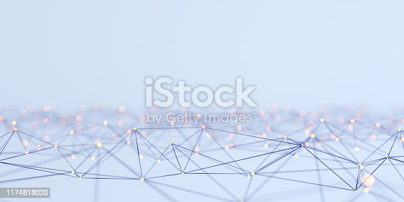 Network Abstract 3d concept
