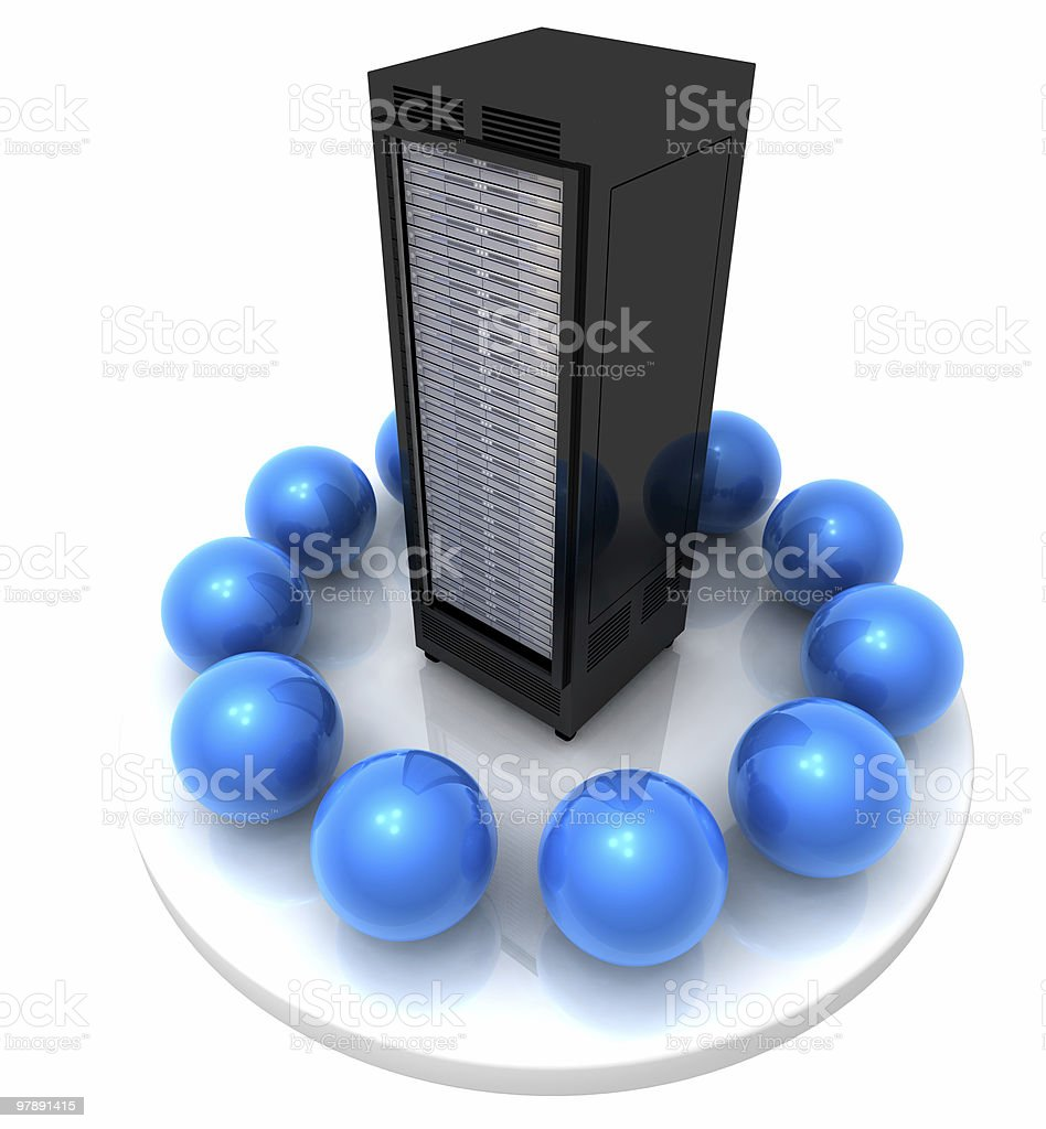 Network and Server royalty-free stock photo