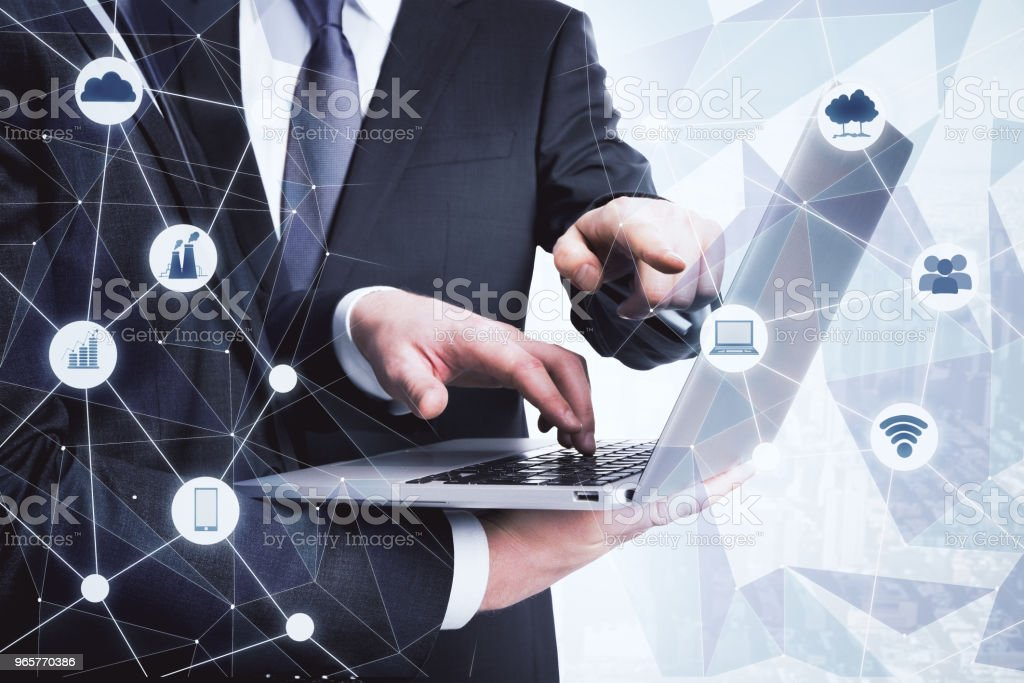 Network and teamwork concept - Royalty-free Adult Stock Photo