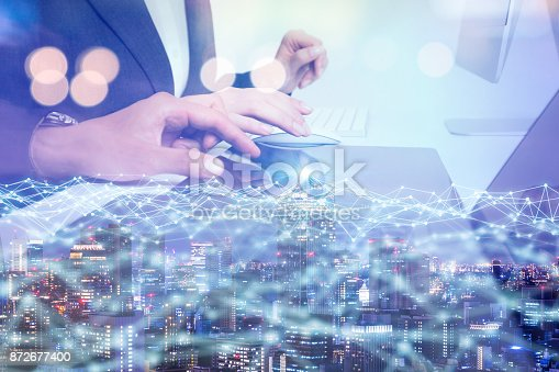 872677410 istock photo Network business concept. 872677400