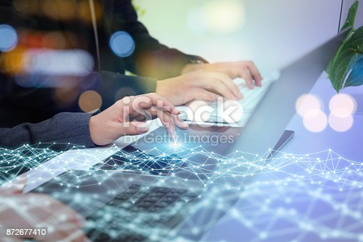 istock Network business concept. 872677410