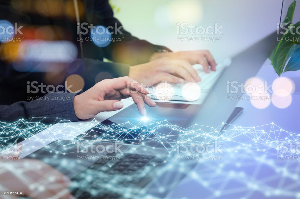 Network business concept. stock photo