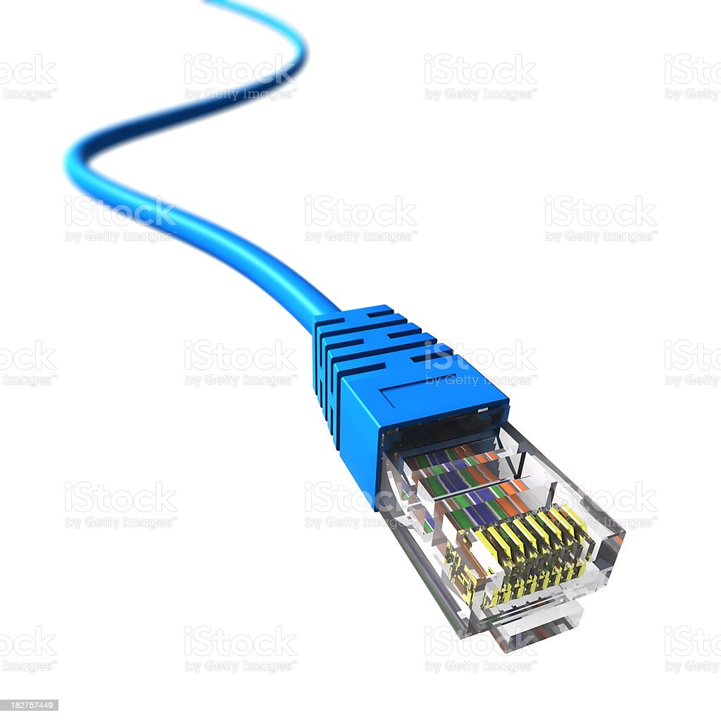 Network cable - isolated with clipping path stock photo