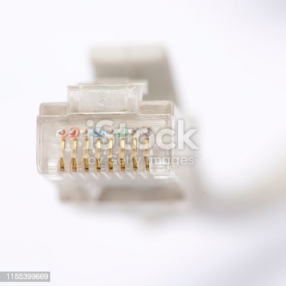 istock RJ 45 network cable 1155399669