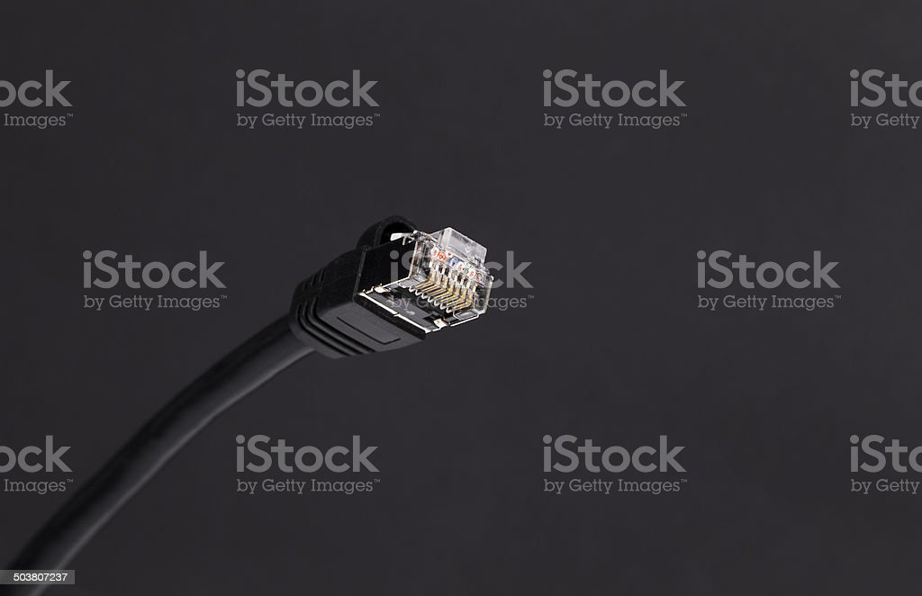 Network cable stock photo
