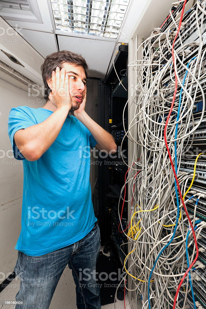 Network Cables Horror stock photo