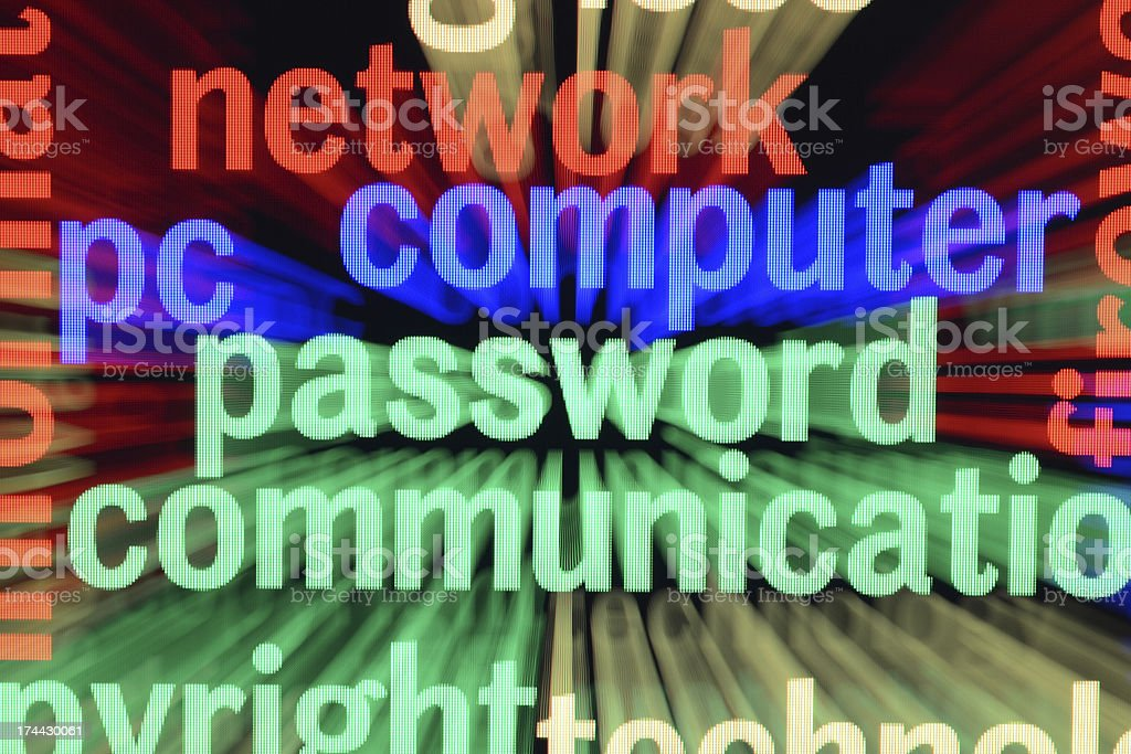 Network computer password royalty-free stock photo