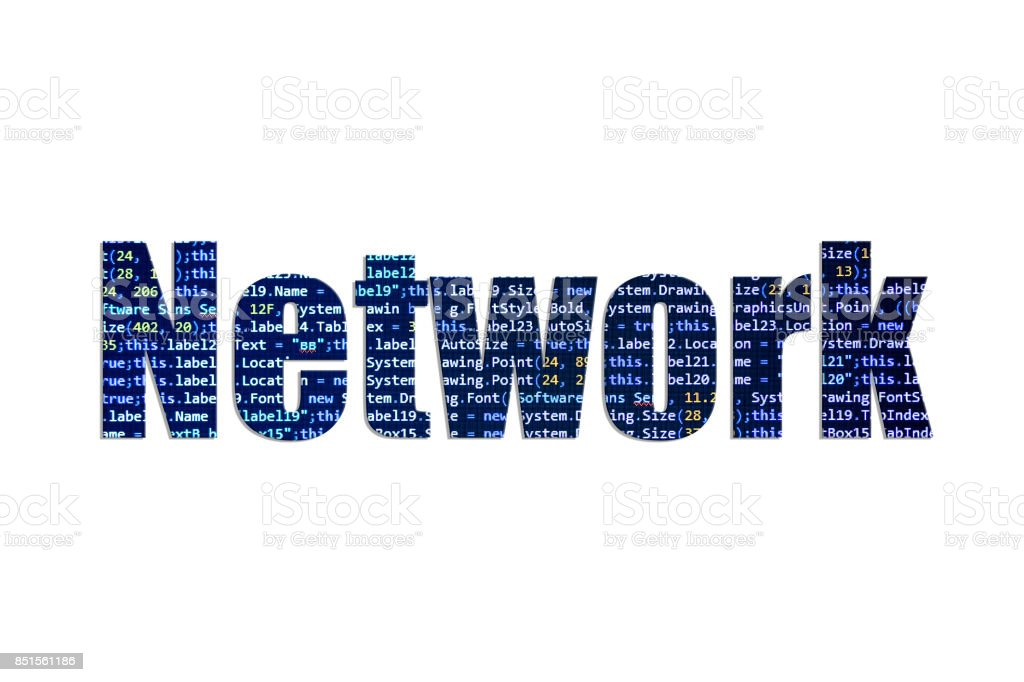 Network concept on a white background stock photo