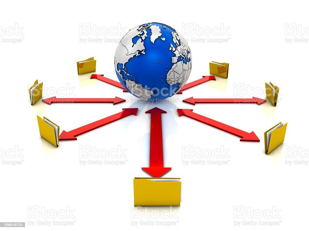 Concept de réseau photo libre de droits