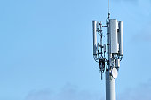 istock 5G Network Connection Concept-5G smart cellular network antenna base station on the telecommunication mast 1261105375