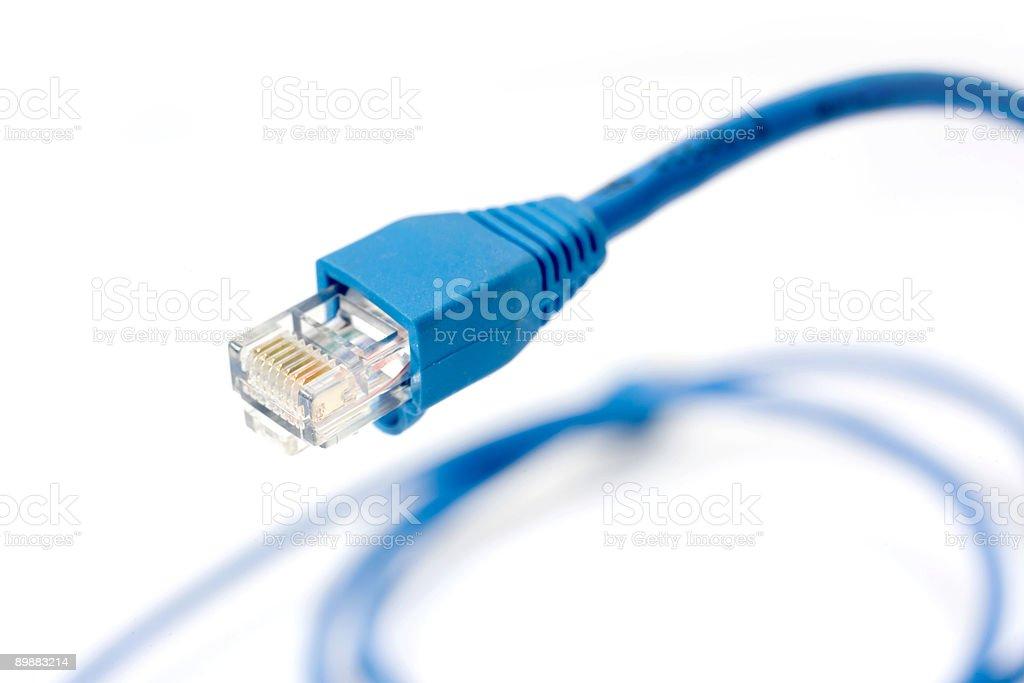 Network connection plug RJ-45 stock photo