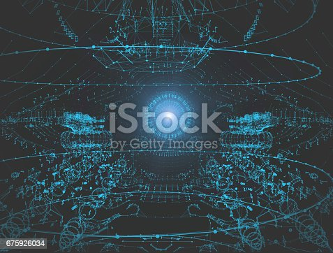 675926042 istock photo Network connection technology 675926034