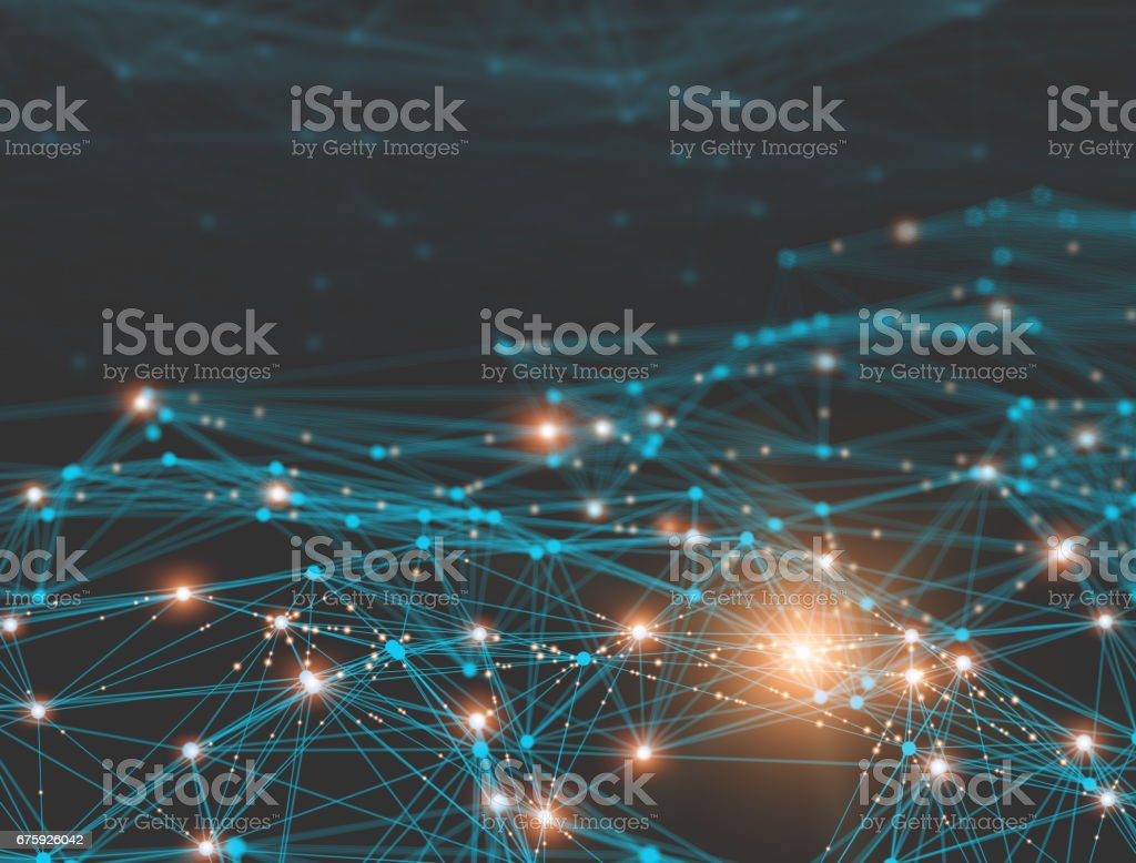 Network connection technology stock photo