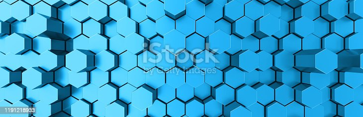 1003112136 istock photo Network connection with financial business concept. Cryptocurrency block chain system of future banking technology. 3d rendering. Glossy surface. Futuristic surface with golden hexagons. Big data 1191218933
