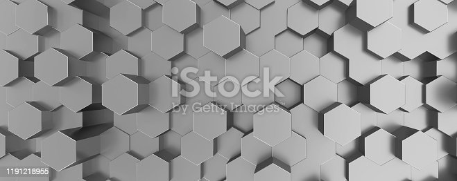 1003112136 istock photo Network connection with financial business concept. Cryptocurrency block chain system of future banking technology. 3d rendering. Glossy surface. Futuristic surface with golden hexagons. Big data 1191218955