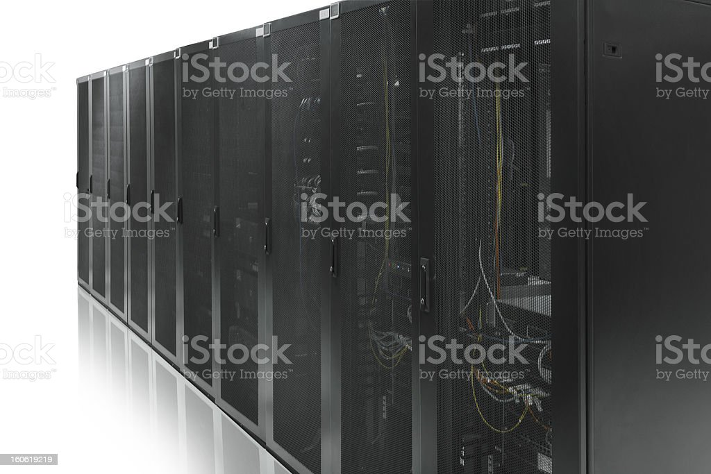 Network data cabinet royalty-free stock photo