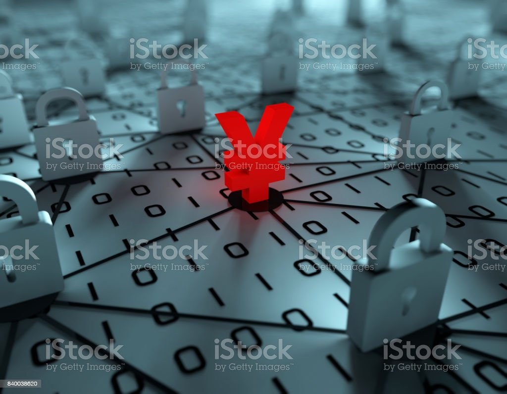 Network data security, financial wealth, financial blockade stock photo