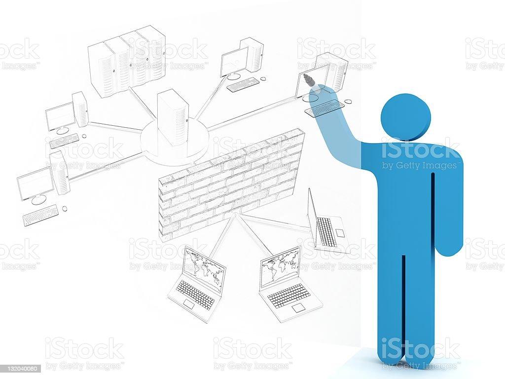 Network Diagram royalty-free stock photo