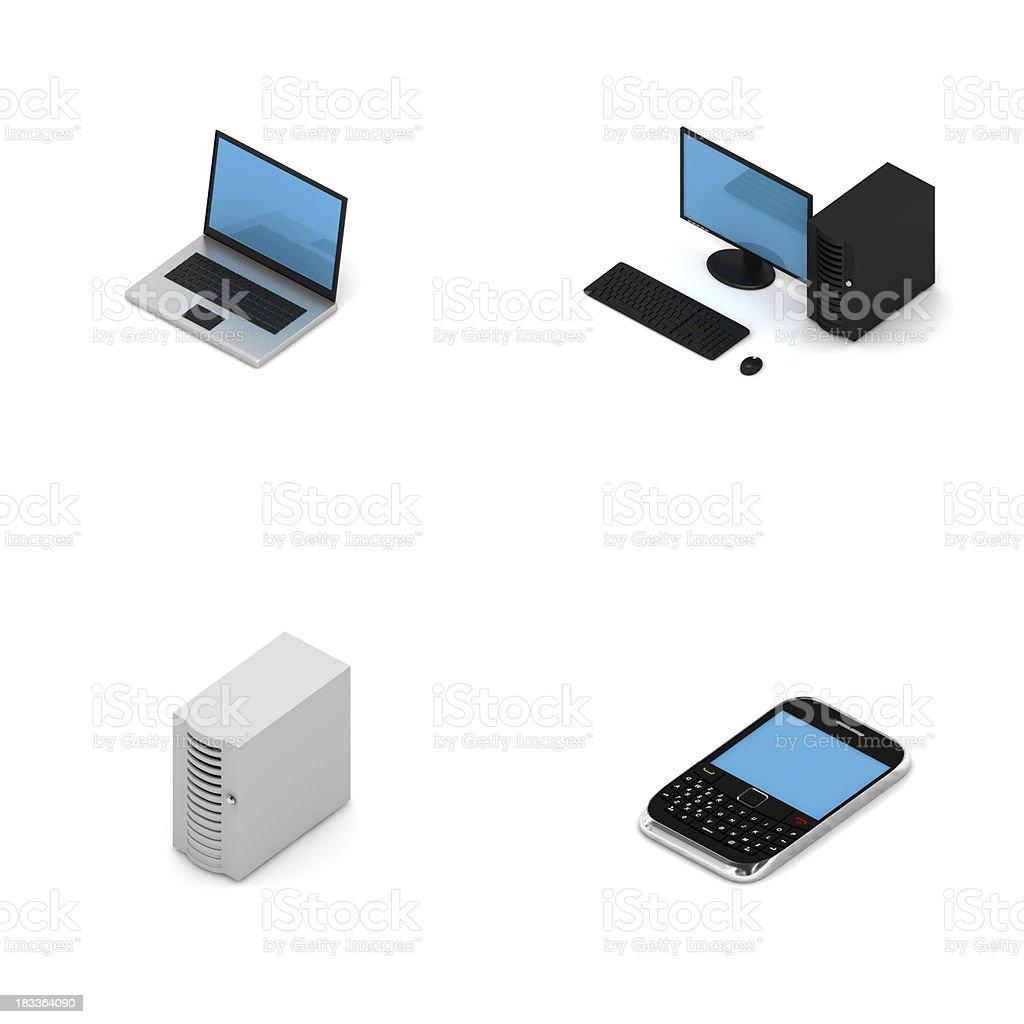 Network Elements - Isometric royalty-free stock photo