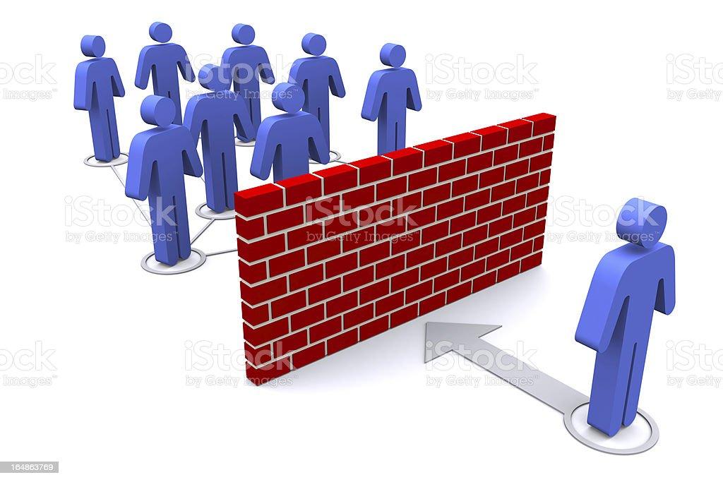 Network Firewall royalty-free stock photo
