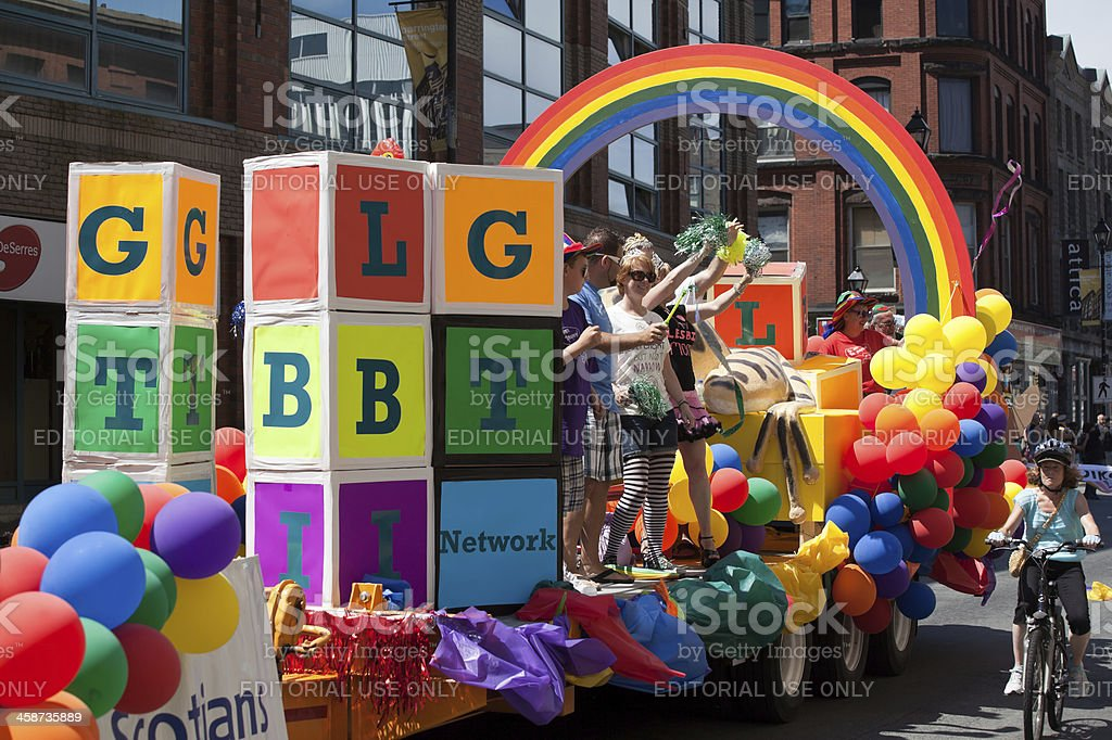 LBGT Network Float in the Halifax Pride Parade stock photo