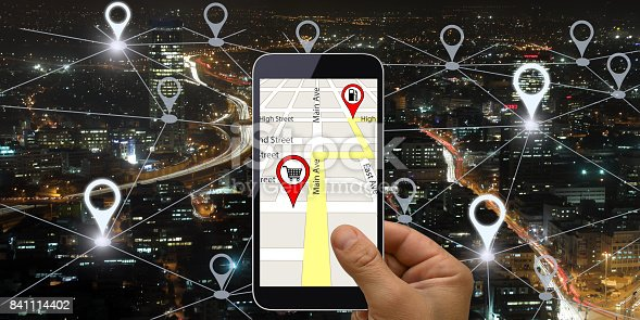 843961934 istock photo Network gps navigation modern city future technology 841114402