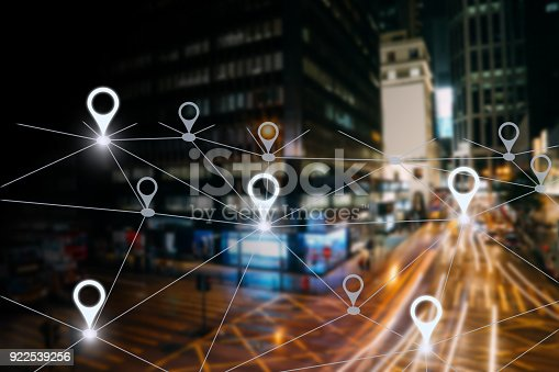 922762614 istock photo Network gps navigation modern city future technology 922539256