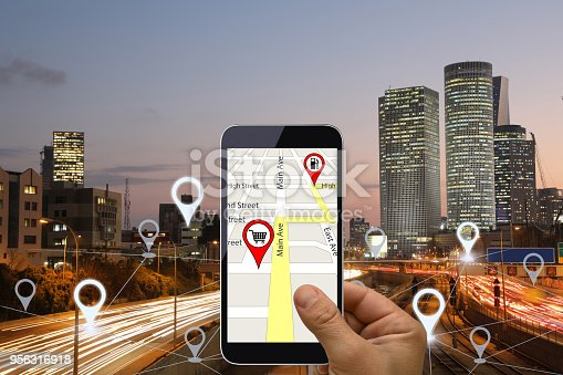 922762614 istock photo Network gps navigation modern city future technology 956316918