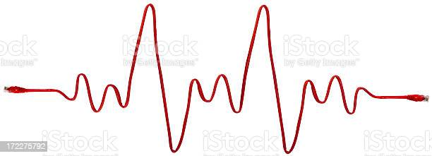 Network Heartbeat With Clipping Path Stock Photo - Download Image Now