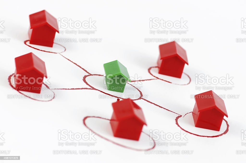 Network houses royalty-free stock photo