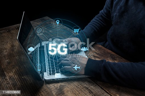 istock 5G Network Internet Mobile Wireless Business concept 1149203650