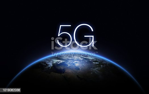 istock 5G Network Internet Mobile Wireless Business concept.5G standard of modern signal transmission technology. 1019082038